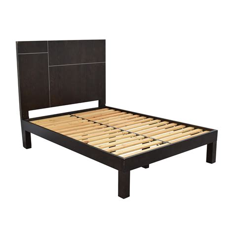 west elm futon frame 62 off west elm west elm dark brown full size bed frame