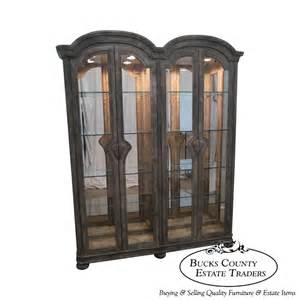 Ebay Curio Cabinet Quality Paint Decorated Large Lighted Beveled Glass Curio
