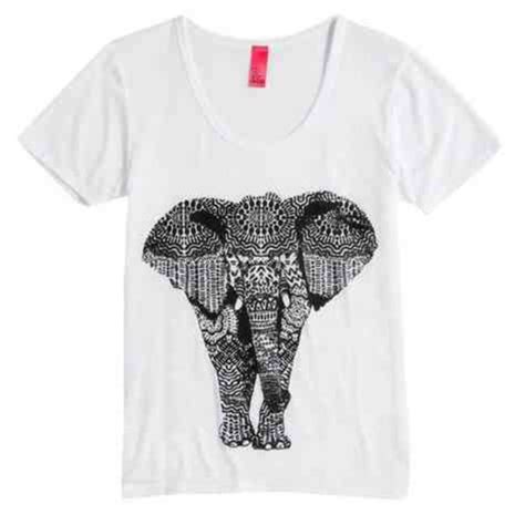 pattern shirts tumblr shirt elephant tribal pattern aztec cute t shirt