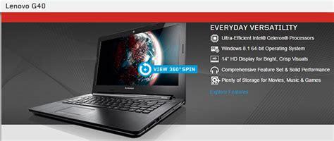 Lenovo Ideapad G40 70 4354 Promo lenovo g40 70 5943 6674 14 inch hd intel i3 4005u 2gb 500gb intel hd graphics dos villman