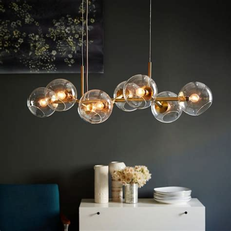 wohnzimmer licht 2434 staggered glass chandelier 8 light ariane