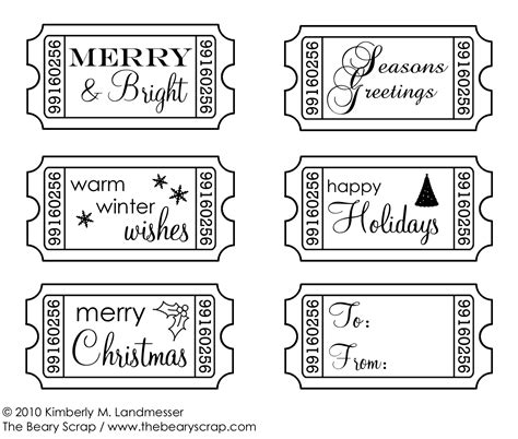 printable christmas ticket template 30 free christmas printables design dazzle