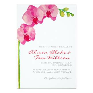 Pink Orchid Watercolor Invitations Announcements And Orchid Wedding Invitationsthe Weddi Orchid Wedding Invitation Template