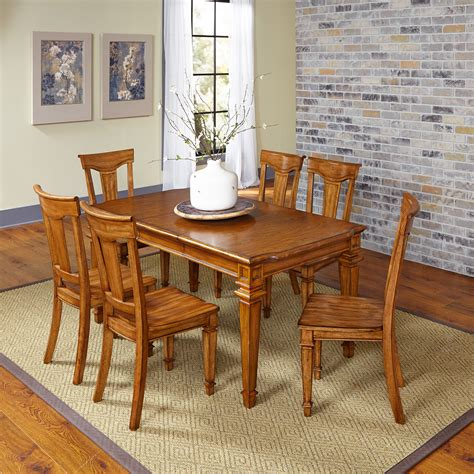 download image oak dining room furniture sets pc android home styles distressed oak americana 7pc dining set home