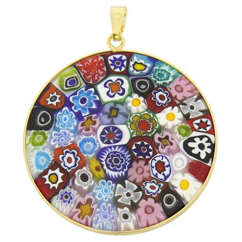 mille fiori millefiori pendants millefiori pendant in gold plated