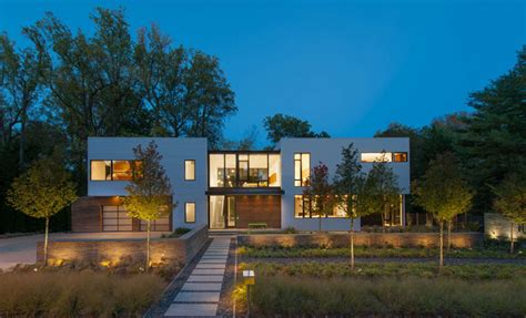 modern home design laurel md modular house goes modern in maryland