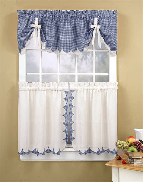 Kitchen Curtains Blue Blue Kitchen Curtains Set Blue 3 Kitchen Window Curtain Set 3 Blue Leaf Embroidered Kitchen
