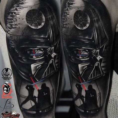 half sleeve star wars tattoo by marek maras rydzewsk