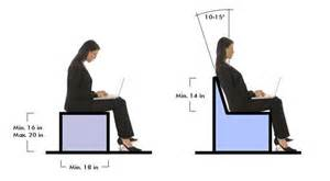 typical seating height seats should generally be between 16 and 20 inches in height and 18 inches in depth if backs