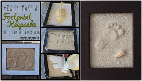 wonderful diy sand footprint keepsake