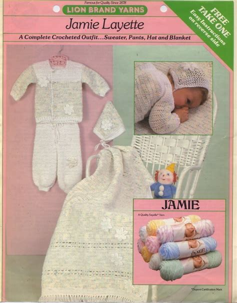 jamie pattern jamie layette crochet pattern leaflet