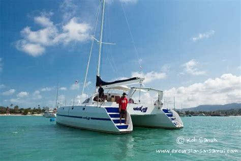 catamaran sailing koh samui sailing catamaran quot vickey quot yachts tours on koh samui