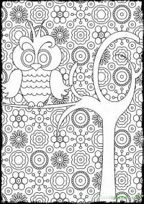 free printable coloring pages for adults advanced owl coloring pages for adults bestofcoloring