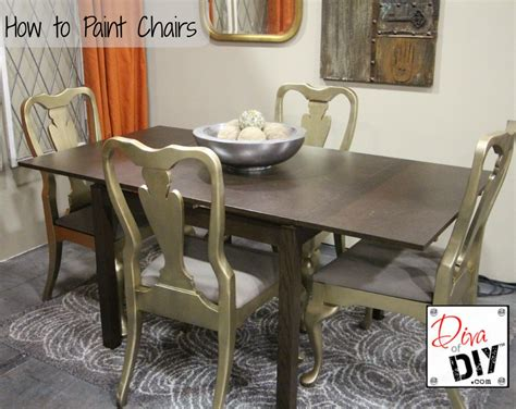 painting dining room chairs how to paint chairs diva of diy