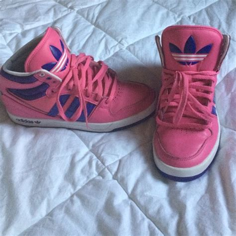 adidas pink and purple adidas high top tennis shoes from 54k follower s closet on poshmark