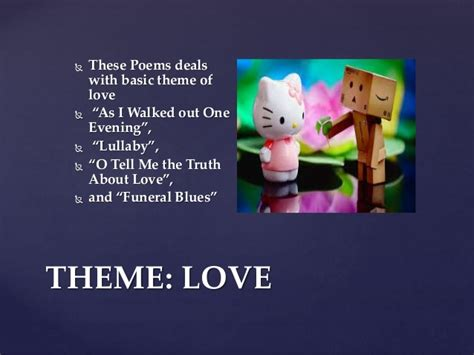 themes love w h auden s poetry themes