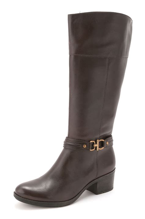 bandolino womens ulla almond toe knee high cowboy boots ebay