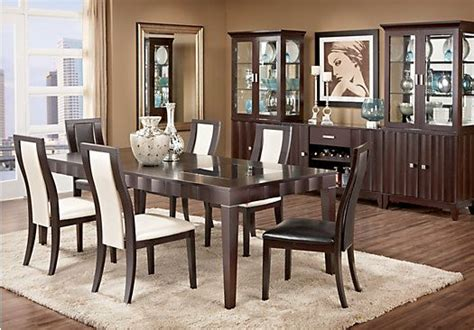 rooms to go dining sets shop for a mondavi espresso 5pc rectangle dining room at