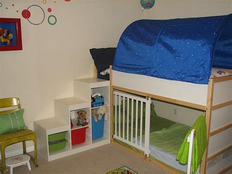 Kinderzimmer Ideen 3877 by Ikea Kura Bed With Trofast Shelves As Steps Did They