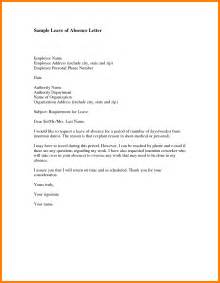 8 leave of absence letter for personal reasons joblettered