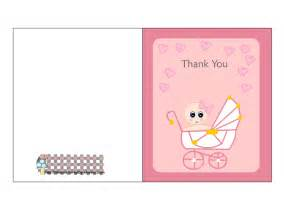 thank you cards from baby shower free printable pink baby shower thank you cards