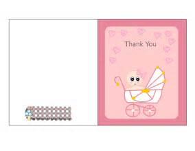 baby shower thank u cards free printable pink baby shower thank you cards