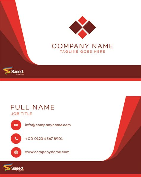 Card Name Template Cdr by Saeed Graphic Visiting Card Cdr