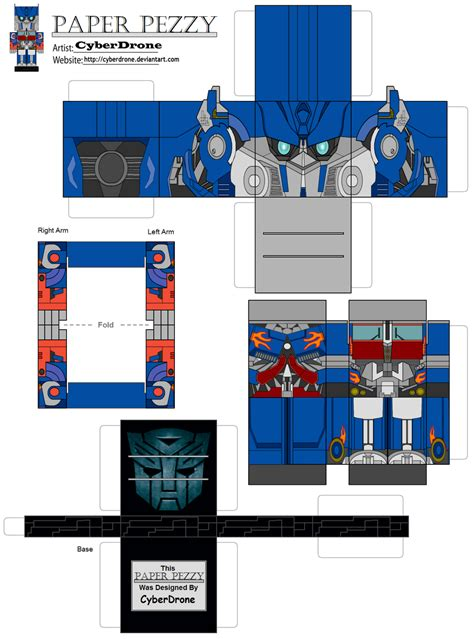 paperpezzy optimus prime lam by cyberdrone on deviantart