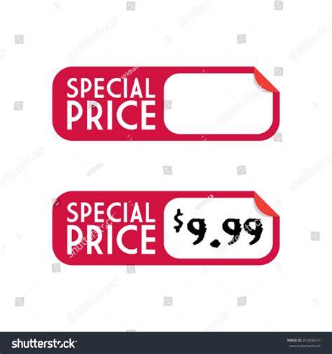 Stiker Pricel Labeller special price sticker label stock vector 353606015