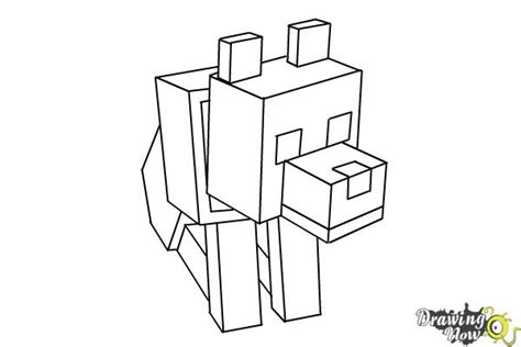 coloring pages minecraft wolf how to draw a minecraft wolf drawingnow