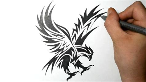 how to draw tribal tattoo best sketch of eagle drawings and sketches drawings