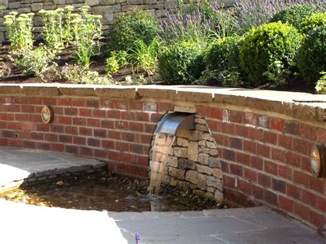brick garden wall designs water water everywhere