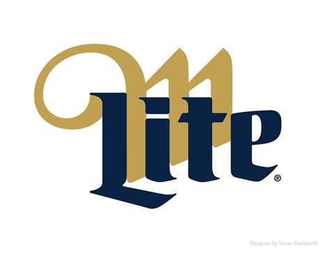 logo miller lite packaging and visual identity designed
