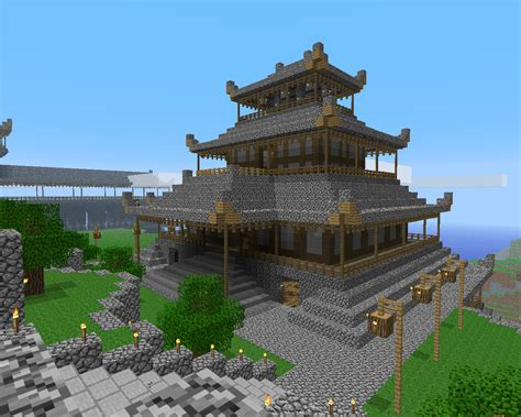 the minecraft castle amazing minecraft castle pagoda