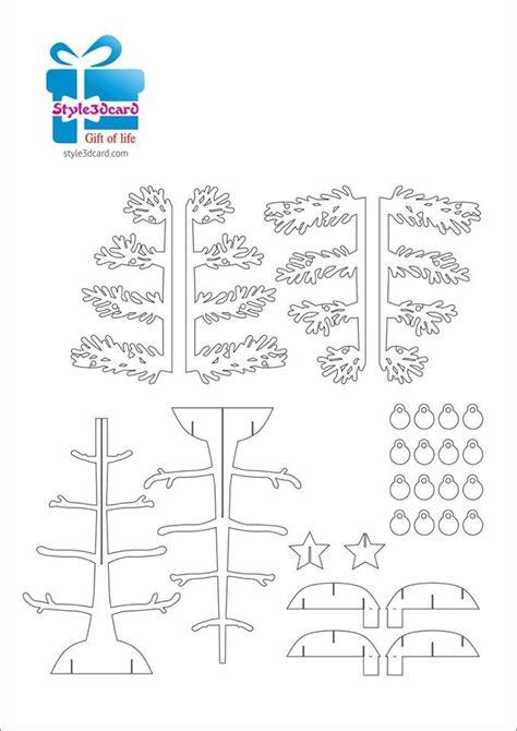 Christmas Tree Pop Up Holiday Card Kirigami Pattern 1 Pop Up I Kirigami Pattern Pinterest Tree Pop Up Card Template 2