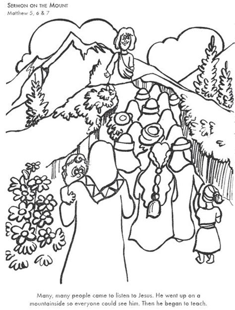 coloring pages of jesus sermon on the mount 1000 images about sermon on the mount on pinterest