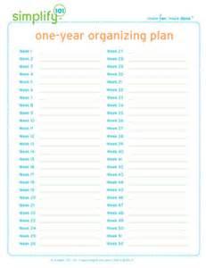 home organization plan free organizing printables