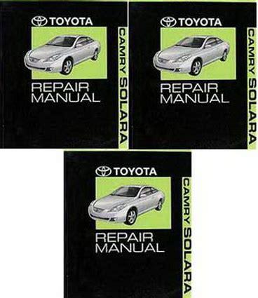 toyota camry solara factory service manual set