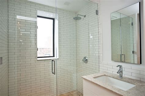 Modern Bathroom Design Nyc Guest Bathroom New York City Greenwich Loft