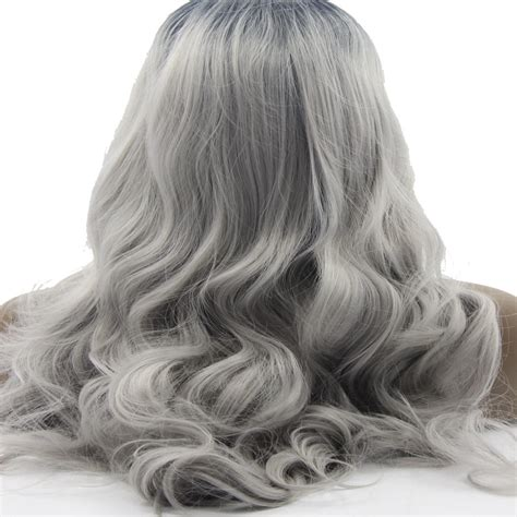 can ypu safely bodywave grey hair two tone grey color body wave ombre grey synthetic hair