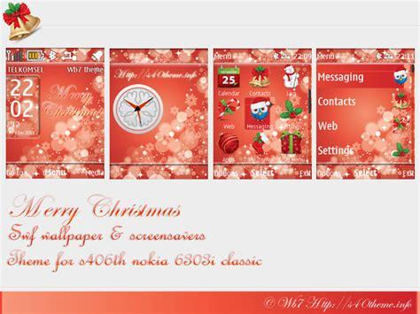 christmas themes x2 merry christmas theme 6303i classic nokia 6303i themes