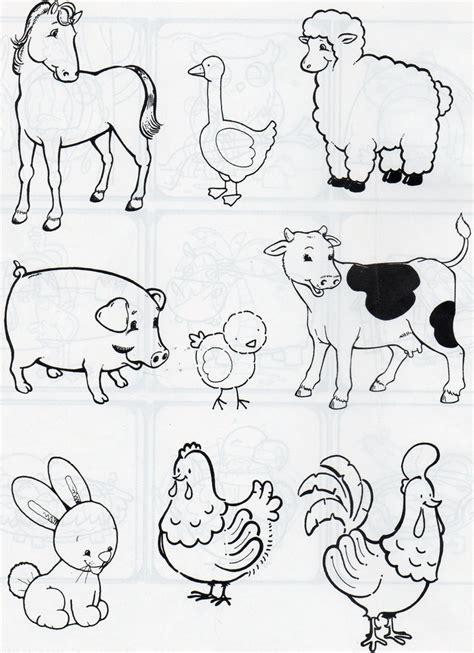 imagenes de animales dela granja para colorear animales de co y de corral animales de la granja