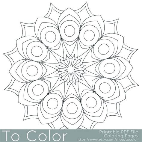 easy coloring books for adults printable circular mandala easy coloring pages for adults