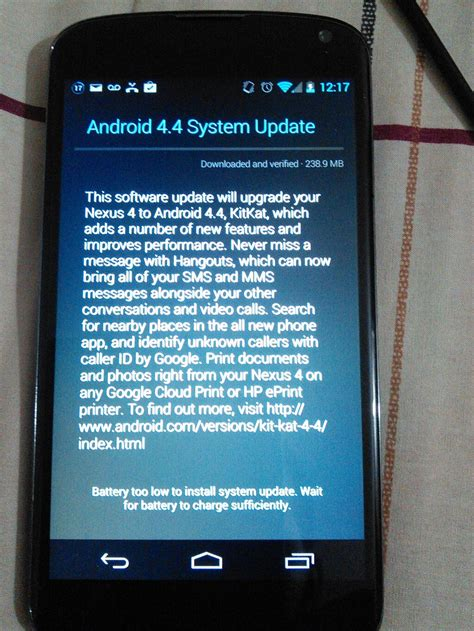 android 4 4 2 update nexus 4 android 4 4 kitkat update now rolling out