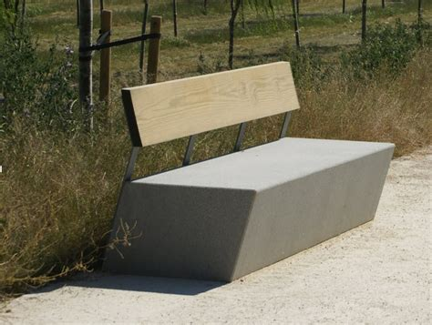 concrete benches design public bench in concrete contemporary garden