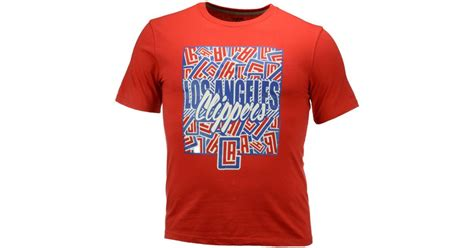 Sweater Los Angeles Redmerch unk s los angeles clippers all t shirt in for lyst