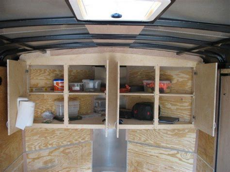 Enclosed Trailer Cabinet Plans