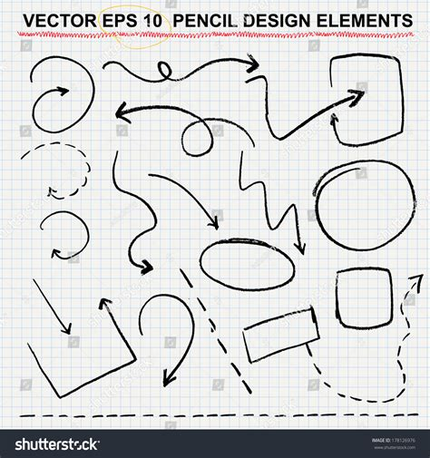 vector pencil design elements vector pencil design elements color can be changed by