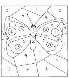 dibujos colorear numeros