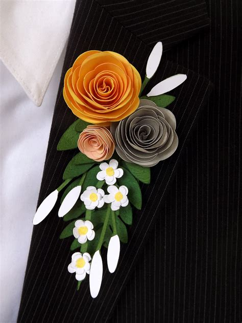 How To Make Paper Boutonniere - prom paper boutonniere and corsage pazzles craft room